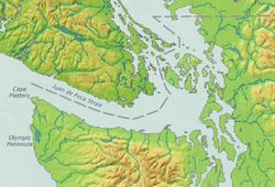 Strait of Juan de Fuca is located in Strait of Juan de Fuca