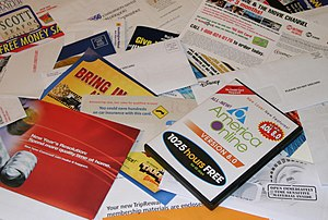 Advertising mail - Typical advertising mail