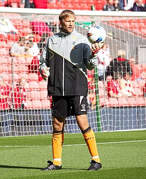 Bolton Wanderers F.C. - Jussi Jääskeläinen is equal third on Bolton Wanderers' record appearance list, making 530 appearances between 1997 and 2012
