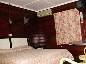 Deluxe Chalet is 1 King Size Bed + 1 Single Bed.