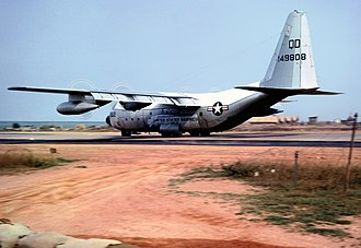 VMGR-152 - A VMGR-152 KC-130F landing at Dong Ha, in 1967