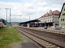 The Kronach train station