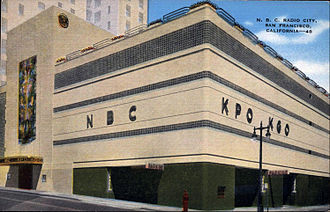 KNBR - KPO and KGO building in the 1940s.