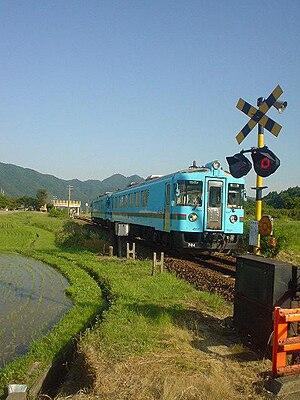 Miyazu Line - Miyazu Line local train near Tango-Yura Station