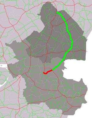 Provincial road N34 (Netherlands) - Image: Kaart Provinciale weg 34