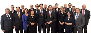 First Rutte cabinet - The First Rutte cabinet on 14 October 2010