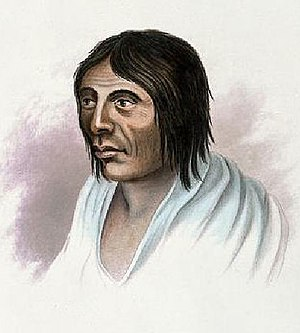 Kalapuya - An engraving of a Kalapuya man, from an illustration by Alfred T. Agate, 1840s