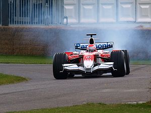 Toyota TF107 - Kamui Kobayashi driving a TF107 at Goodwood in 2008