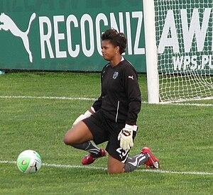 Karina LeBlanc - LeBlanc playing for the Philadelphia Independence in 2010