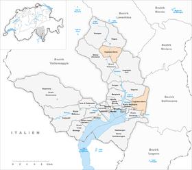 Map of Cugnasco-Gerra