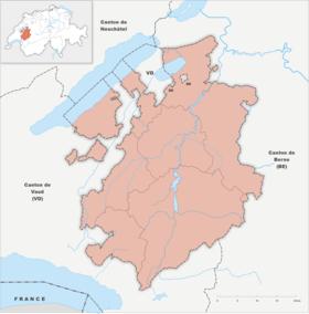 (Voir situation sur carte: canton de Fribourg)