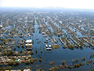 Flood - View of flooded New Orleans in the aftermath of Hurricane Katrina