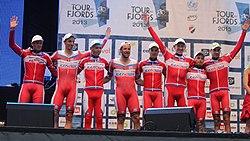 Katusha Team winner Tour des Fjords 2013.JPG
