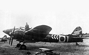 Kawasaki Ki-45 - Another Kawasaki Ki-45 of the 53rd Hiko Sentai, active on Home Defence, as depicted by the white band next to the Hinomaru