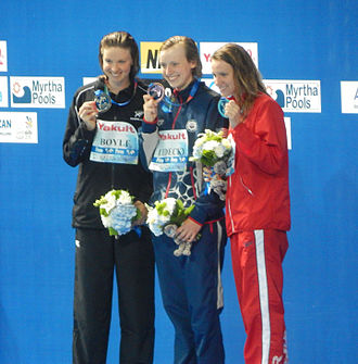 Swimming at the 2015 World Aquatics Championships – Women's 800 metre freestyle - Victory Ceremony