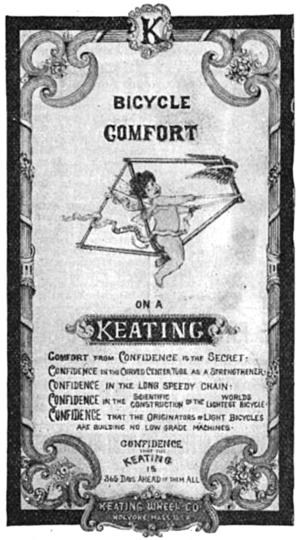 Bob Keating - 1896 ad for Keating bicycles