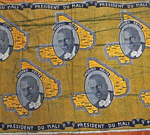 Slavery in Mali - A poster of Modibo Keïta, the first President of Mali, who encouraged slaves to leave their masters.