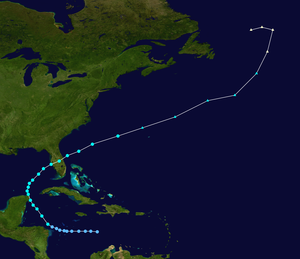 Tropical Storm Keith (1988) - Image: Keith 1988 track