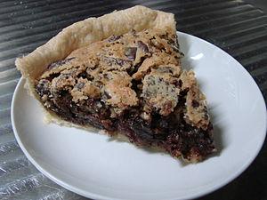 Walnut pie - Image: Kentucky Chocolate walnut pie slice