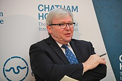 Kevin Rudd at a Chatham House event in June 2015