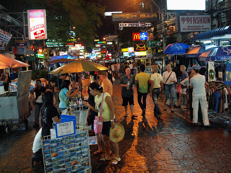 File:Khao San Road at night by kevinpoh.jpg