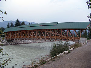 Kicking Horse River - Kicking Horse Pedestrian Bridge