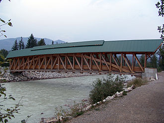 Golden, British Columbia - Kicking Horse Pedestrian Bridge