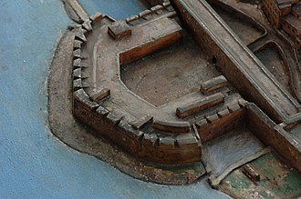King's Bastion - King's Bastion as depicted on the 1865 scale model of Gibraltar.