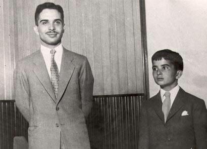 King Hussein I of Jordan with Prince Hassan bin Talal (1960)