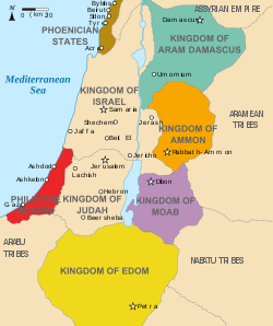 Kingdoms around Israel 830 map