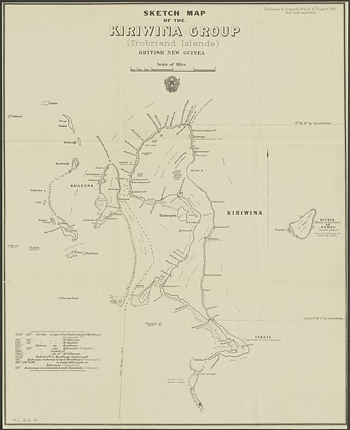 Kiriwina Group (Trobriand Islands) 1891 map nla.obj-231909085-1