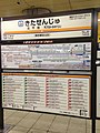 Kita-Senju Station Sign (Tobu Isesaki Line).jpg