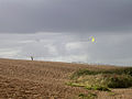Kite flying on the landward side of Chesil Beach's northwestern end - geograph.org.uk - 25114.jpg