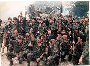 Croatian Defence Forces - HOS soldiers in Čapljina, 1992