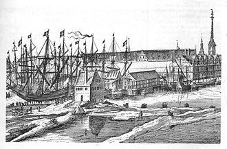 Knippelsbro - Knippelsbro in c. 1650Co