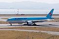 Korean Air ,KE724 ,Boeing 777-2B5(ER) ,HL7574 ,Departed to Seoul ,Kansai Airport (16666855581).jpg