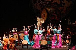 Korean dance - A new traditional dance titled Grand Drum Ensemble