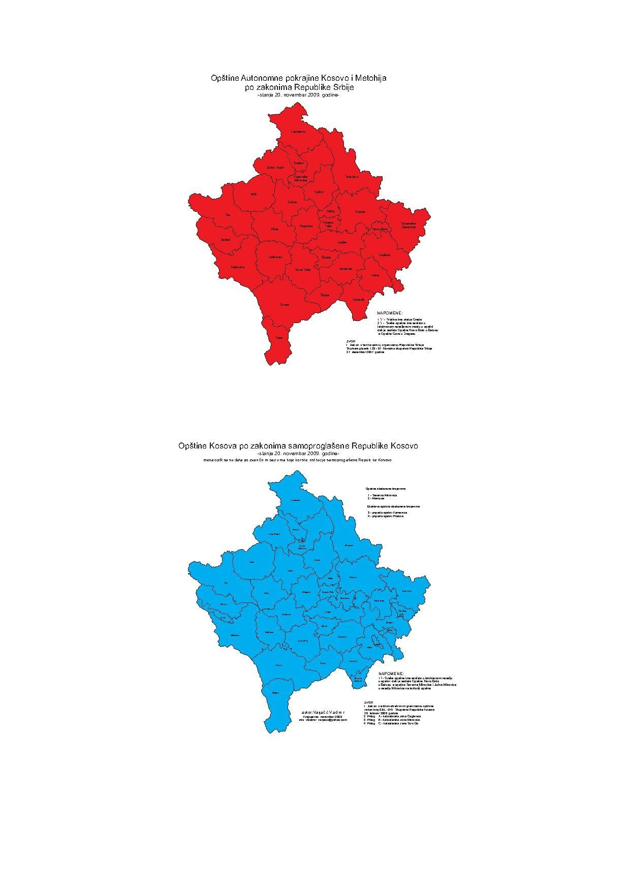 FileKosovo I Metohija And Republika Kosovopdf Wikimedia Commons - Kosovo map hd pdf