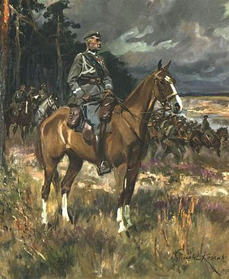 Wojciech Kossak - Kossak's Piłsudski on Horseback, 1928, National Museum, Warsaw—one of the most popular artistic portrayals of Piłsudski