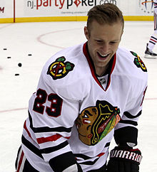 Description de l'image Kris Versteeg - Chicago Blackhawks.jpg.