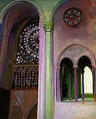 Fragment wnętrza katedry Notre-Dame w Paryżu