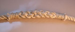 Rope splicing - A short splice, with ends whipped