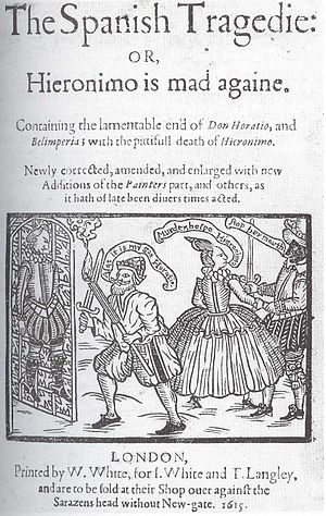 Sources of Hamlet - The Spanish Tragedy, by Thomas Kyd. This popular revenge tragedy may have influenced Hamlet. Its author may have also written the Ur-Hamlet.