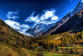 Canton of Valais - A view of the Lötschental valley
