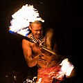 Lūʻau Fire Dancer at Kilohana Plantation, Kauaʻi.jpg