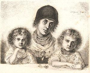 Ludwig Emil Grimm - Image: L E Grimm Bäuerin aus Egern mit Kindern