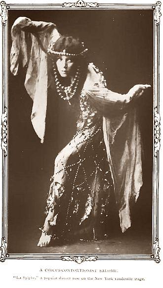 Acro dance - Vaudeville dancer La Sylphe (c. 1908)