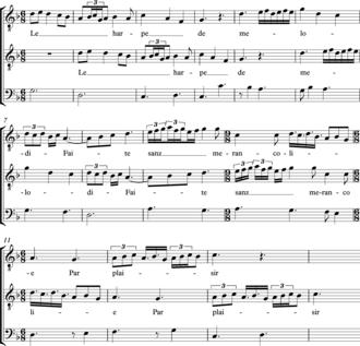 Canon (music) - Image: La hrpe de melodie