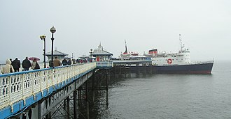 Llandudno Pier - Penultimate sailing of the Lady of Mann to the Isle of Man on 26 May 2005