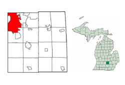 Location in Ingham County, Michigan1